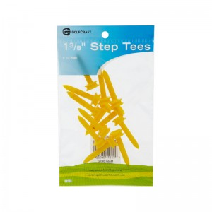 "GOLF CRAFT 1 3/8"" PLASTIC STEP TEES - 12 PACK"