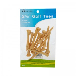 "GOLF CRAFT 2 1/8"" WOODEN GOLF TEES -15 PACK"