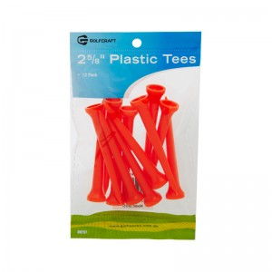 "GOLF CRAFT 2 5/8"" PLASTIC STEP TEES - 12 PACK"