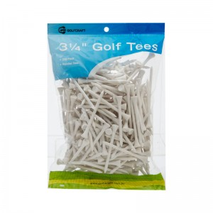 "GOLF CRAFT 3 1/4"" WOODEN GOLF TEES - 250 PACK"