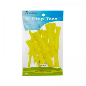 "GOLF CRAFT 3"" PLASTIC STEP TEES - 12 PACK"