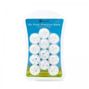 GOLF CRAFT AIR FLOW PRACTICE BALLS - WHITE