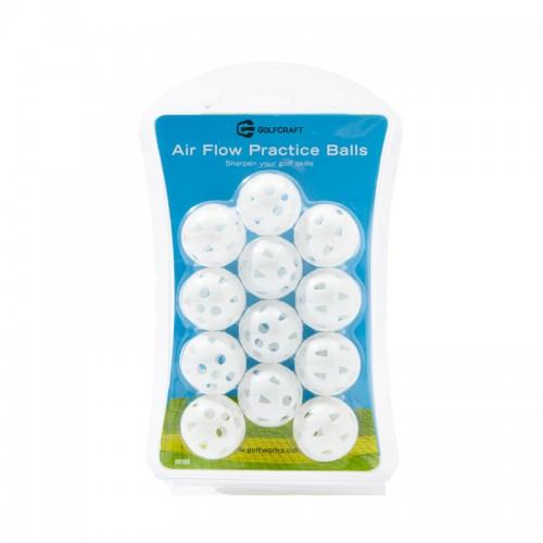 GOLF CRAFT AIR FLOW PRACTICE BALLS - WHITE