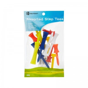 GOLF CRAFT ASSORTED STEP TEES - 12 PACK