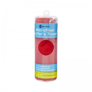 GOLF CRAFT MICROFIBRE TOWEL - RED
