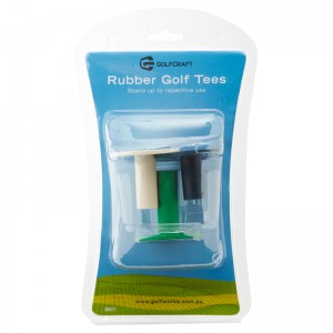 GOLF CRAFT RUBBER GOLF TEES