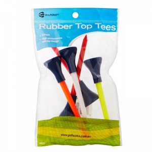 GOLF CRAFT RUBBER TOP TEES - 5 PACK