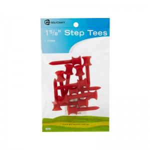 "GOLF CRAFT 1 5/8"" PLASTIC STEP TEES - 12 PACK"