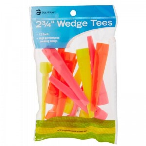 """GOLF CRAFT 2 3/4"""" WEDGE TEES - 12 PACK"""